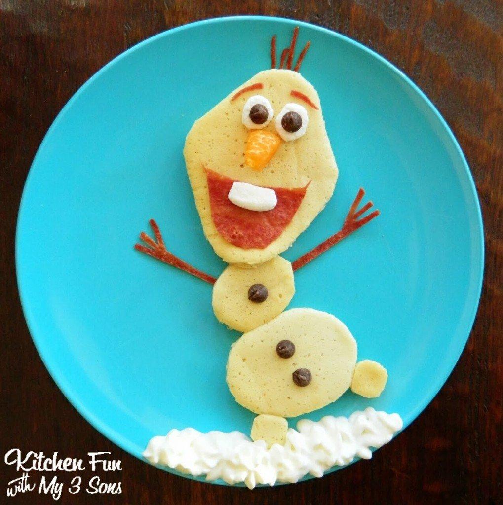 Disney's Frozen Olaf Pancakes for Breakfast