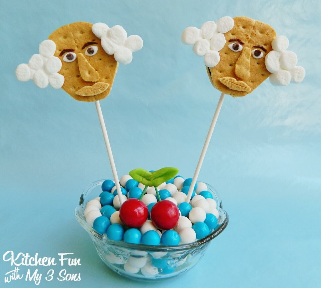 George Washington S'mores Cookie Pops for Presidents Day!
