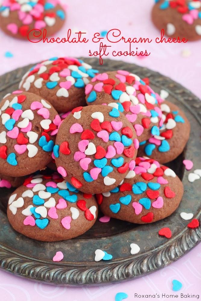 Chocolate & Cream Cheese Soft Cookies