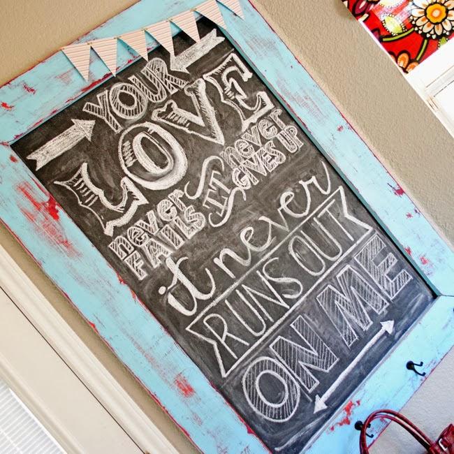 Love Never Fails Free Chalkboard Art