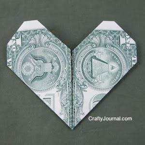 Dollar Bill Heart