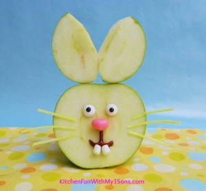 Easter Bunny Apple Fruit Snack