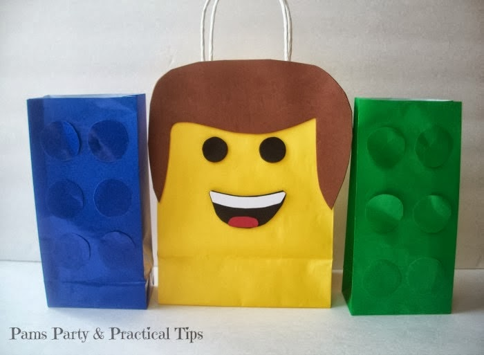 How to make Lego Movie Party Bags