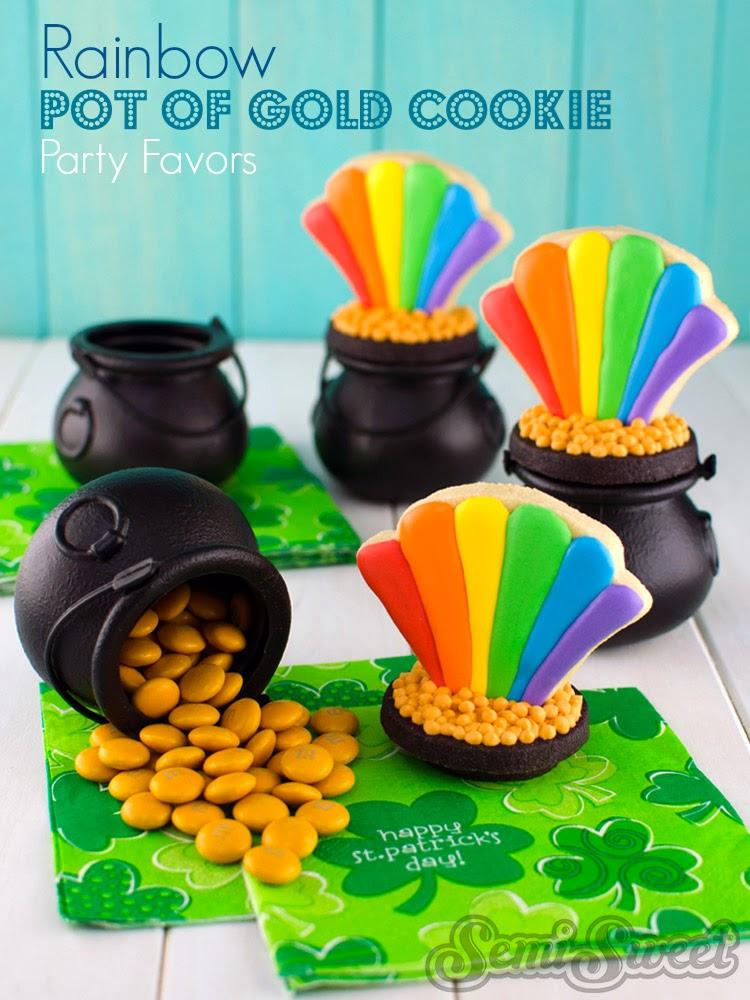 Rainbow Pot of Gold Cookies