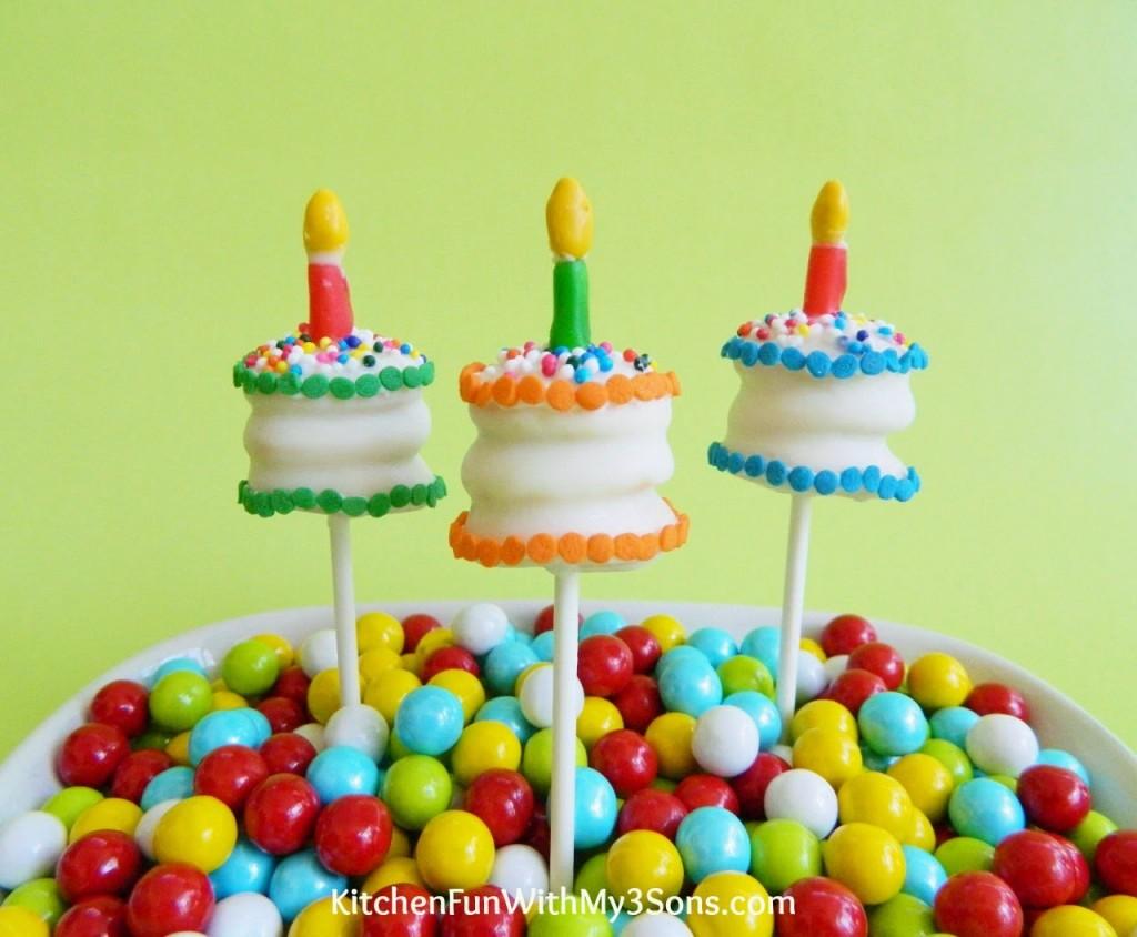 Tiny Cookie Birthday Cake Pops To Celebrate Our  Year - 3 birthday cake