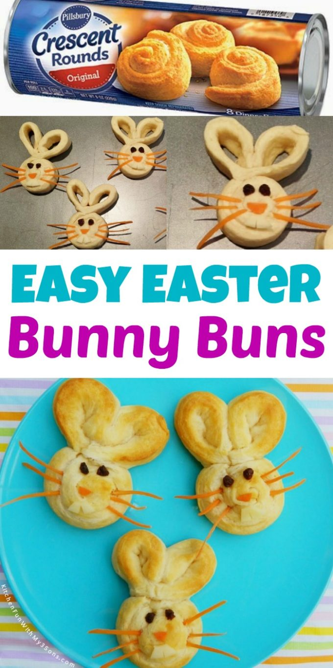 Easy Easter Bunny Buns