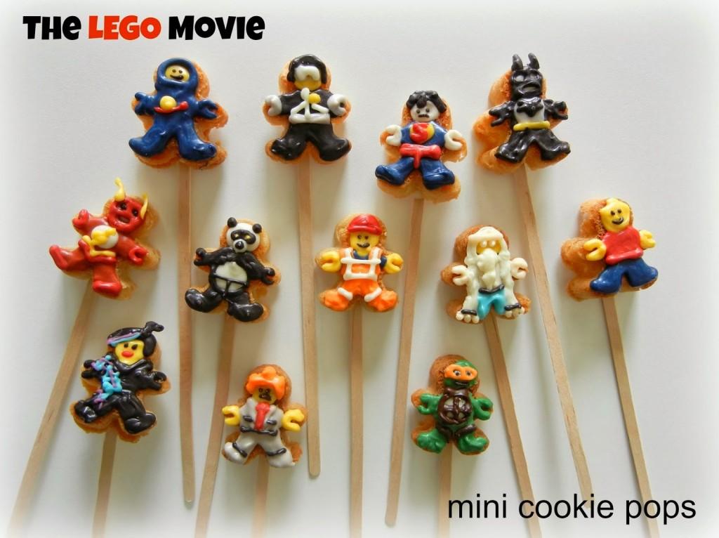 The Lego Movie Mini Cookie Pops