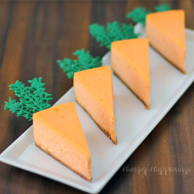 Naturally Colored Orange Cheesecake Carrots