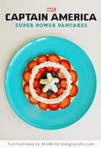Captain America Super Power Pancakes
