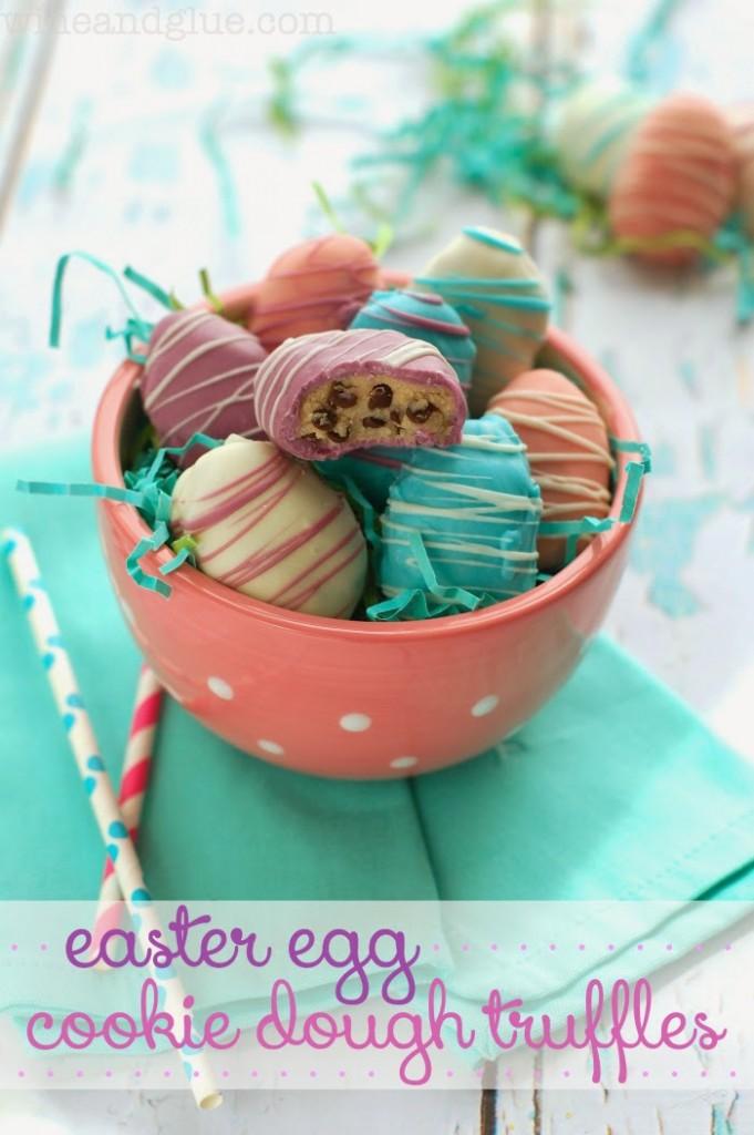 Easter Egg Cookie Dough Truffles