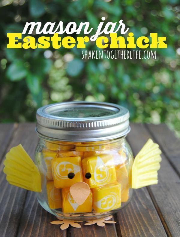 Mason Jar Easter Chick Craft