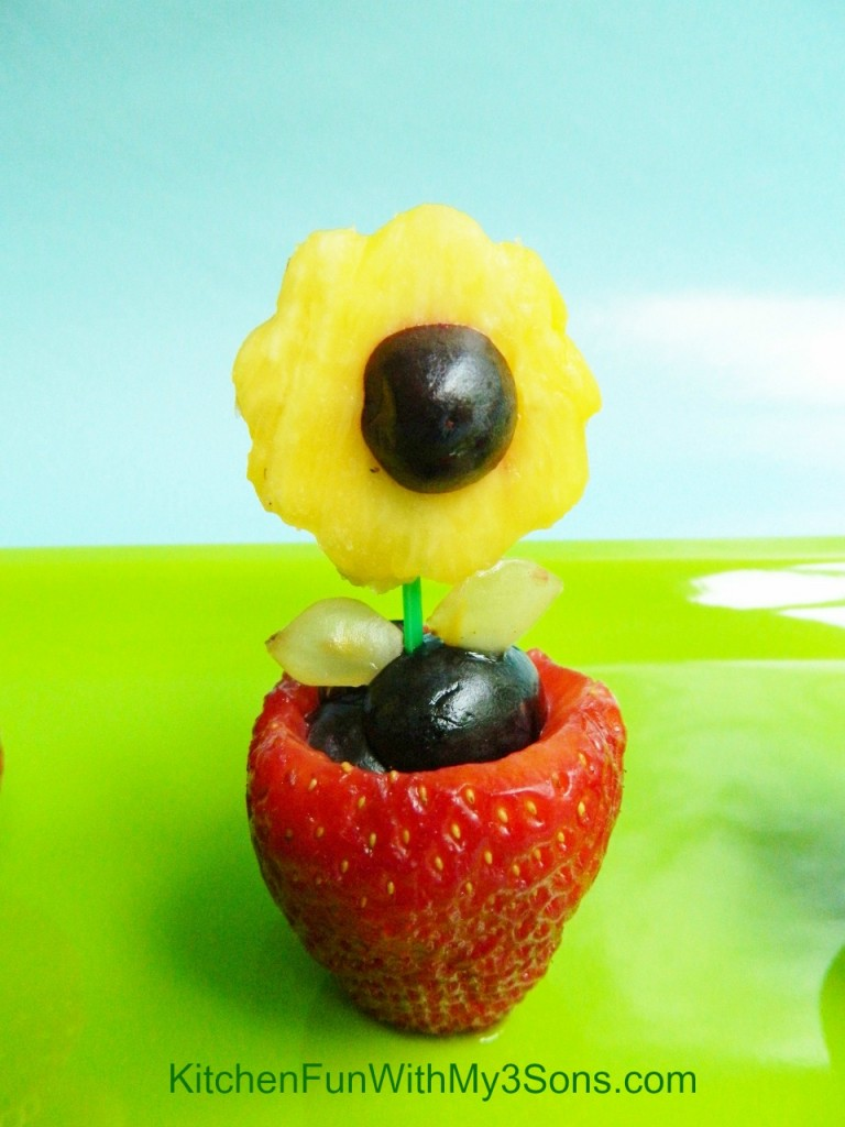 Fruit Flower Snack For Mothers Day Kitchen Fun With My  Sons