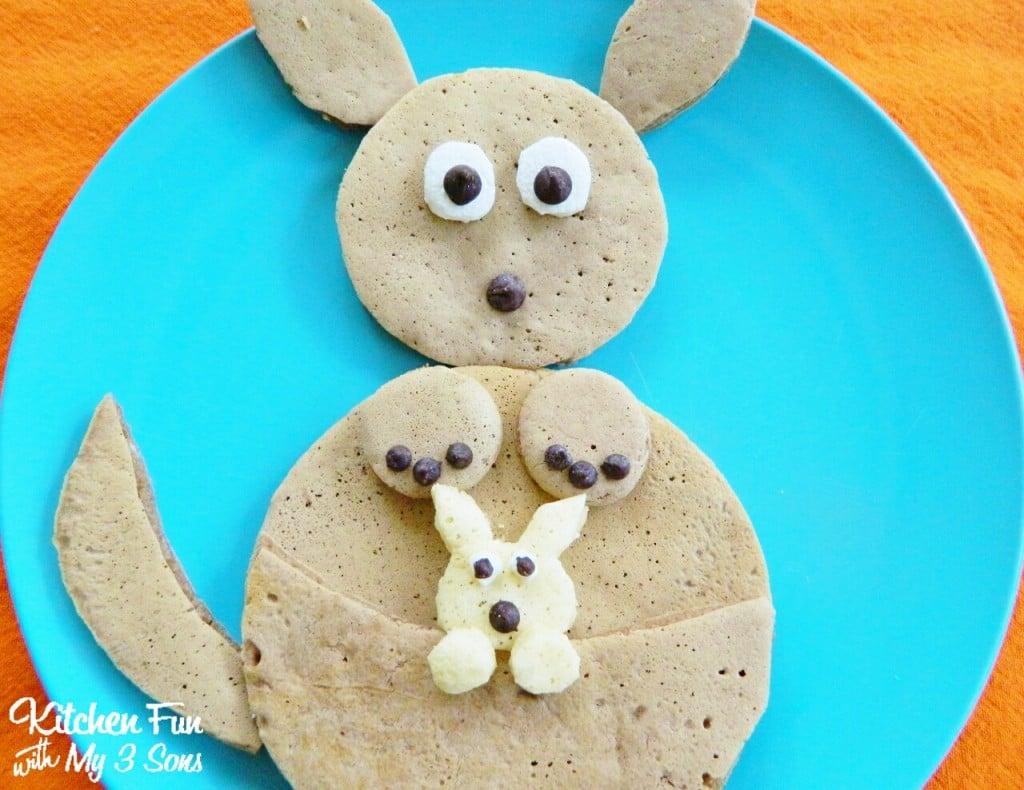 Kangaroo Pancakes for Breakfast