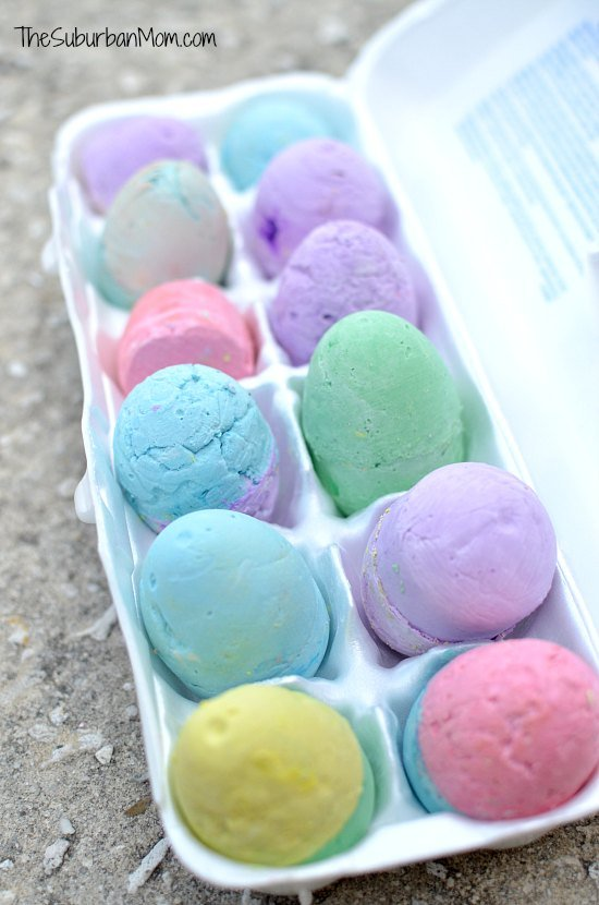 Easter Egg Sidewalk Chalk