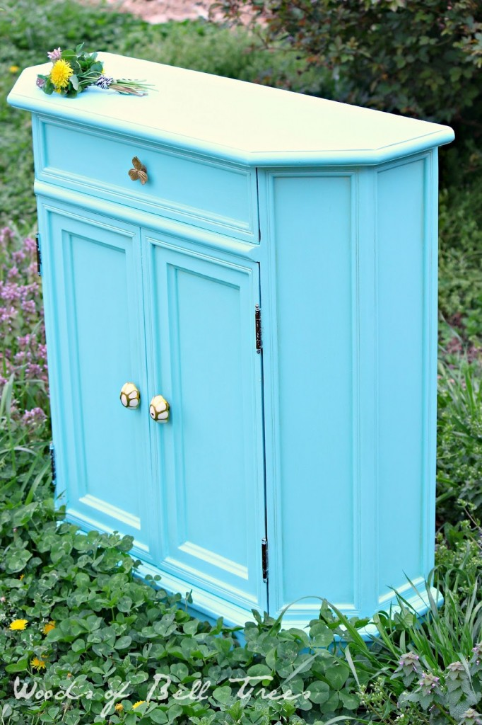 Painting the Little Ugly Cabinet
