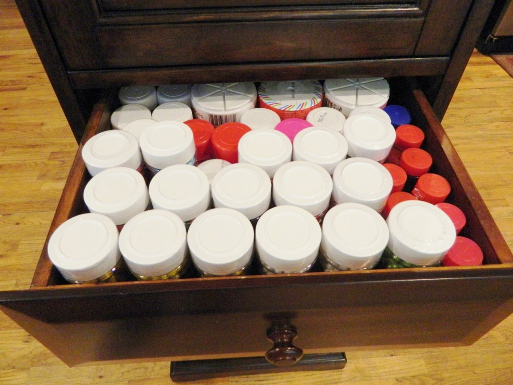 This is our sprinkle drawer.
