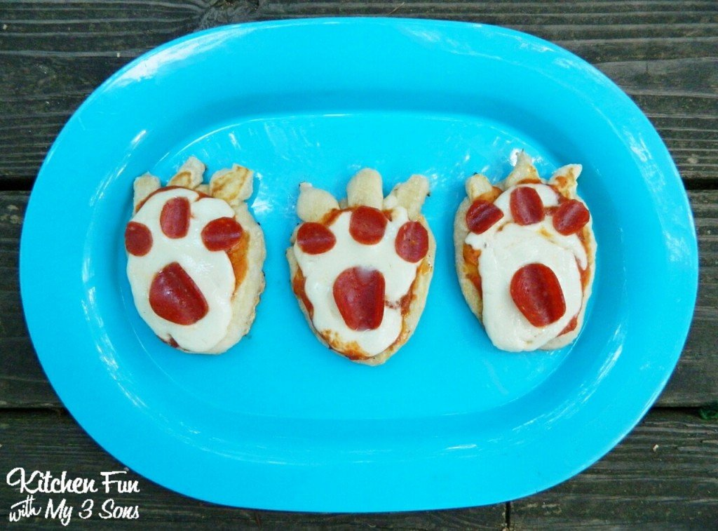 Bear Claw Biscuit Pizzas for dinner