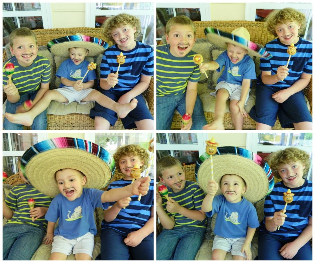 This is what I go through trying to take pictures of my 3 little wacky amigos