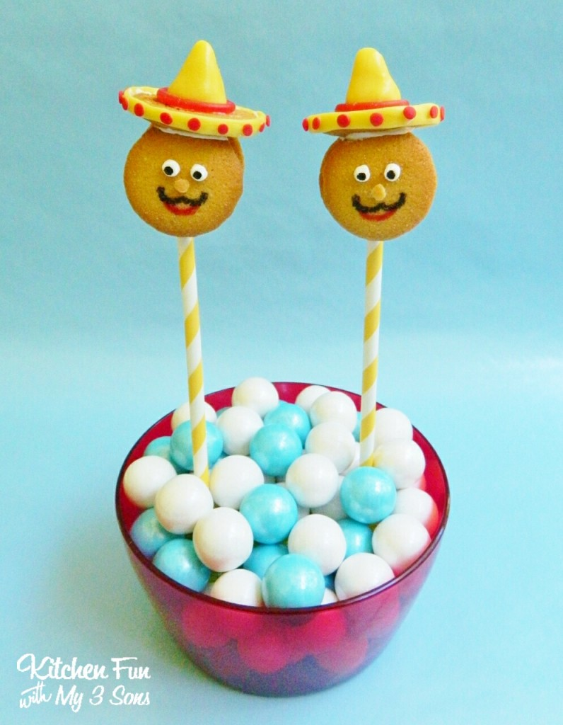 Cinco de Mayo Cookie Pops