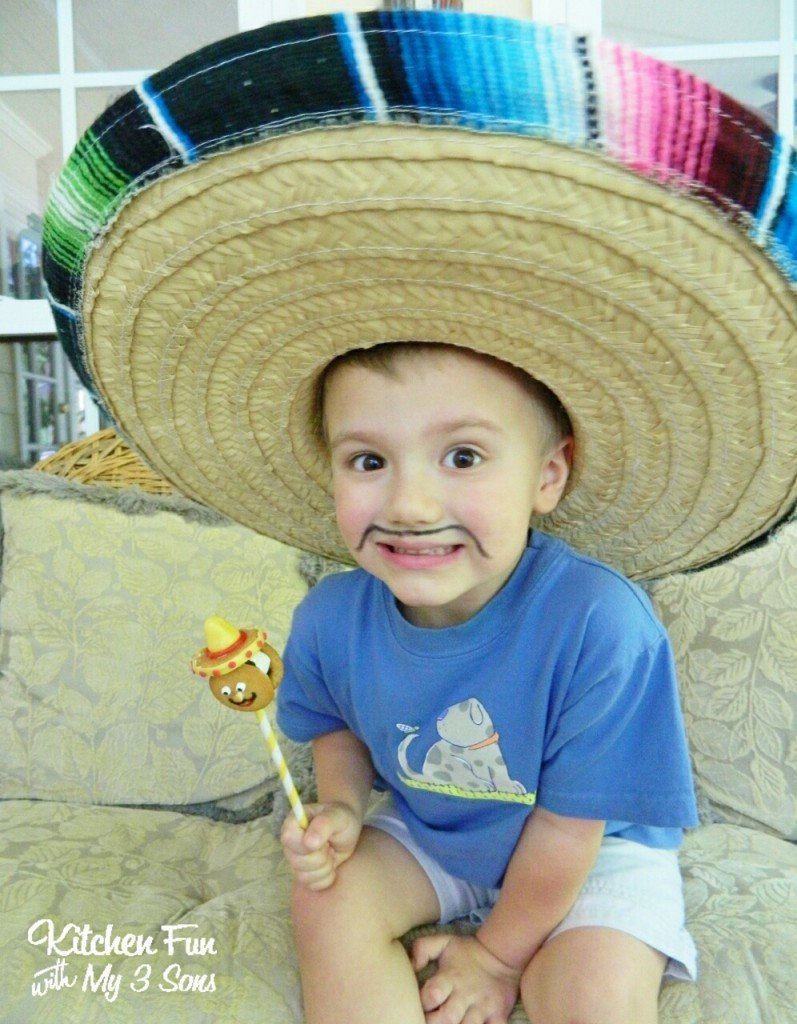 My 3 year old was SO excited to get his Cinco de Mayo Cookie Pop!