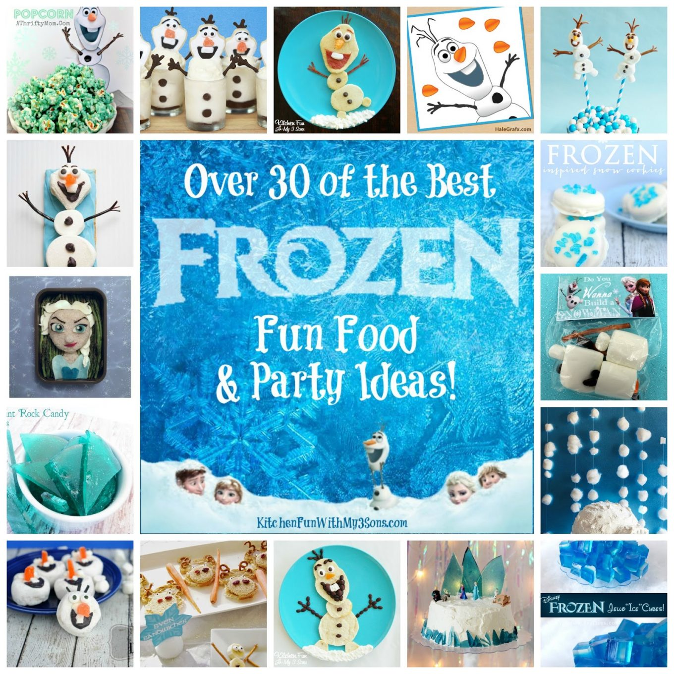 Kitchen Fun And Crafty Friday Link Party 167: Over 30 Of The BEST Frozen Party Ideas!