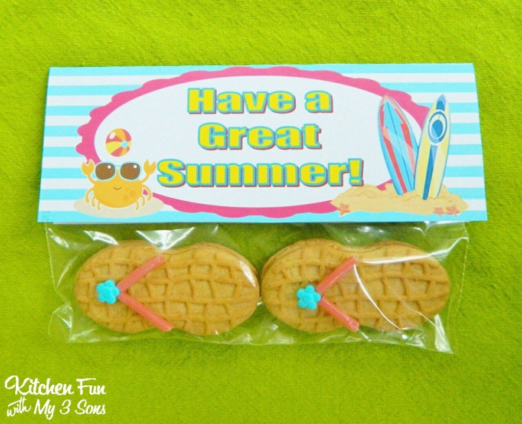 flip flop cookies with a free have a great summer. Black Bedroom Furniture Sets. Home Design Ideas