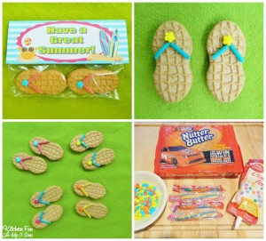 "Flip Flop Cookies with a FREE ""Have a Great Summer"" Printable!"
