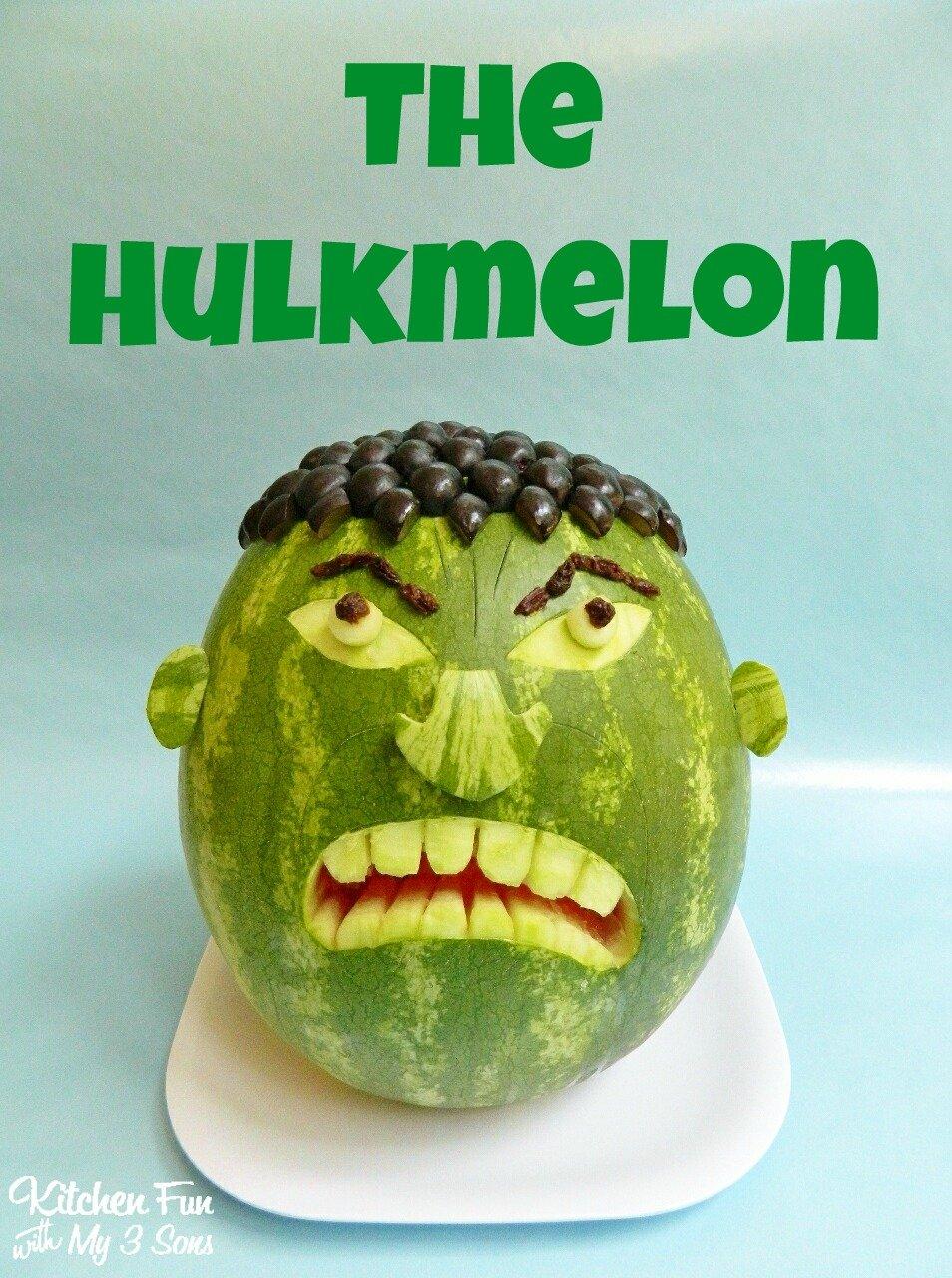 The Hulk Watermelon - Kitchen Fun With My 3 Sons