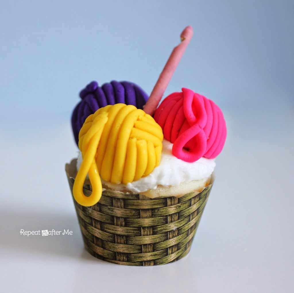 Yarn Basket Cupcakes