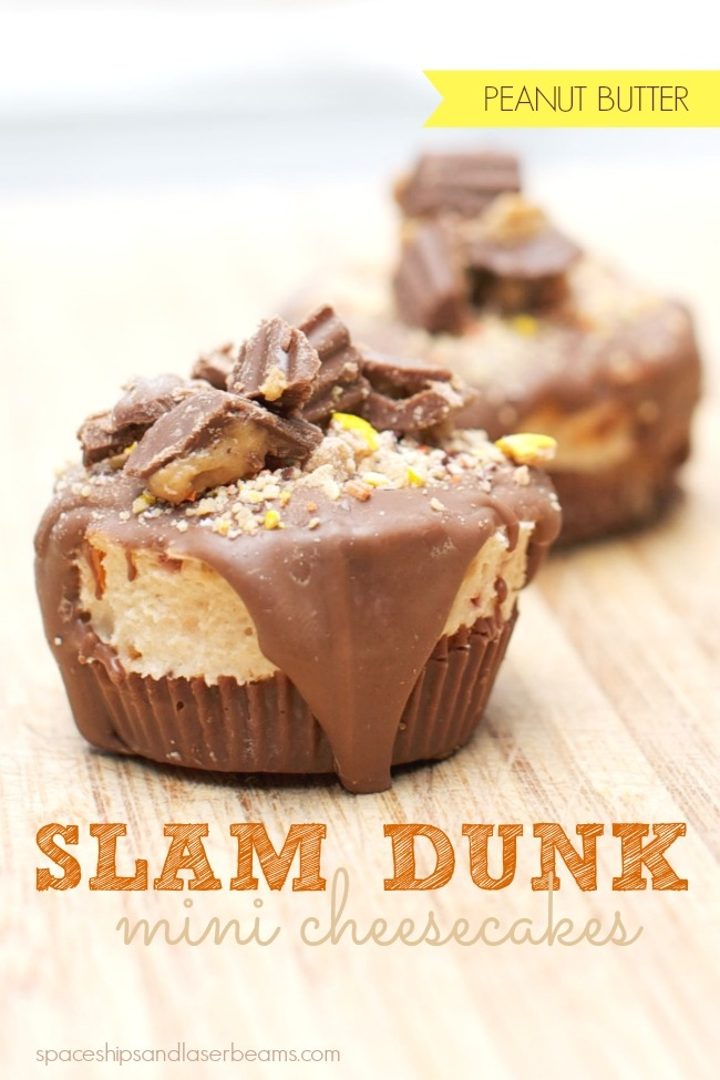 Reese's Slam Dunk No Bake Cheesecake Bites