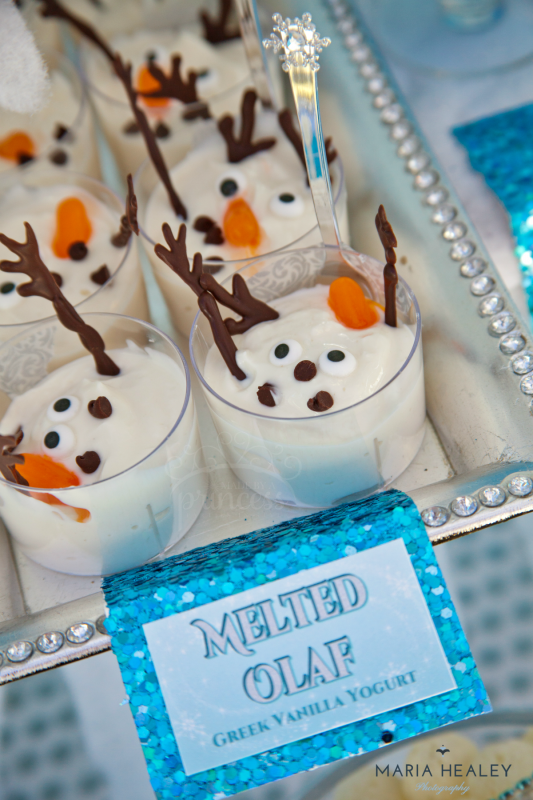 Melted Olaf Yogurt