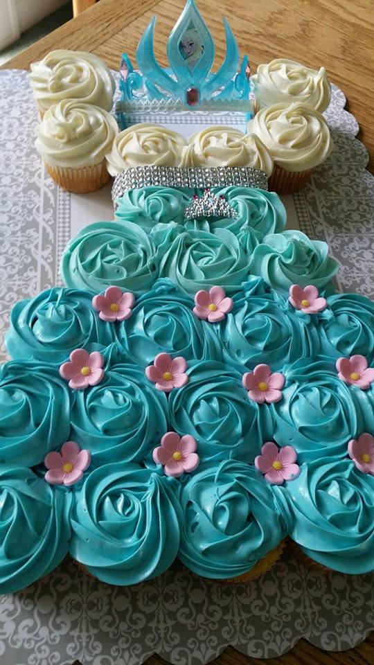 Frozen Dress Cupcakes