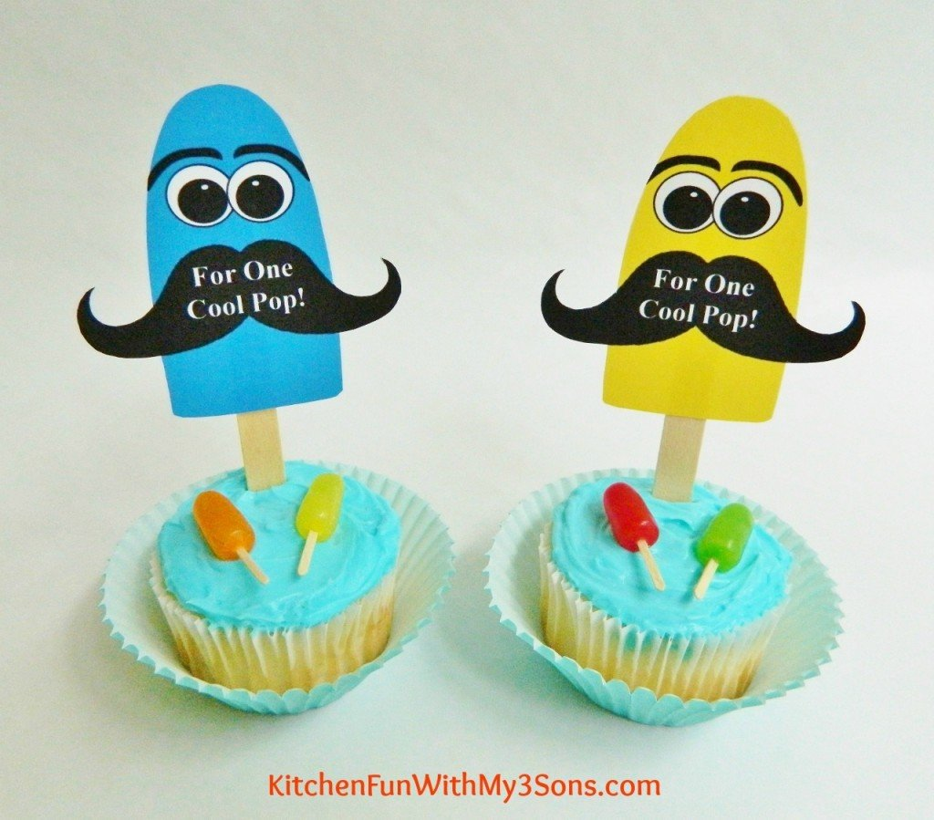 Father's Day Popsicle Cupcakes with FREE Printable!