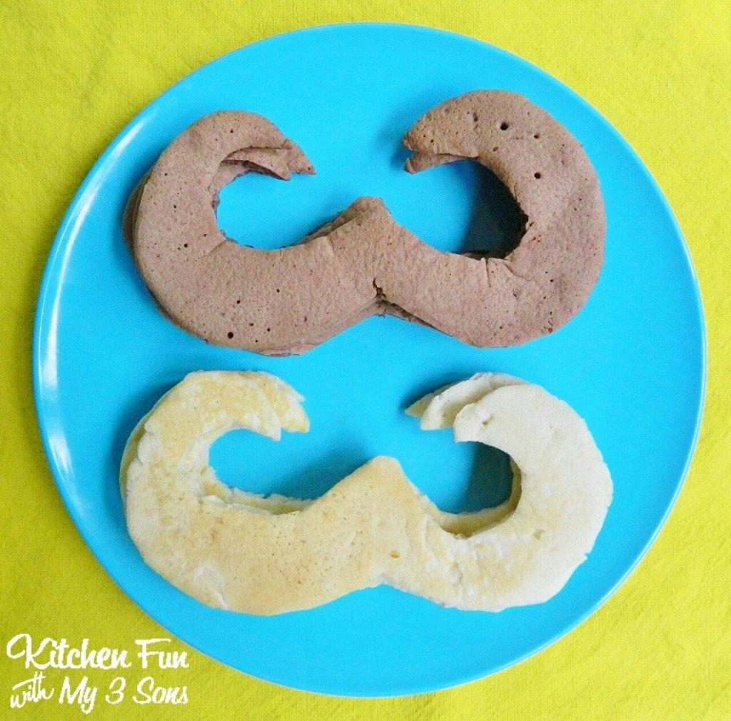 Mustache Pancakes