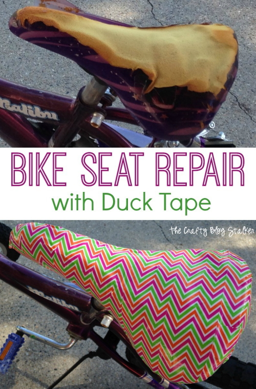 Duct Tape Bike Seat
