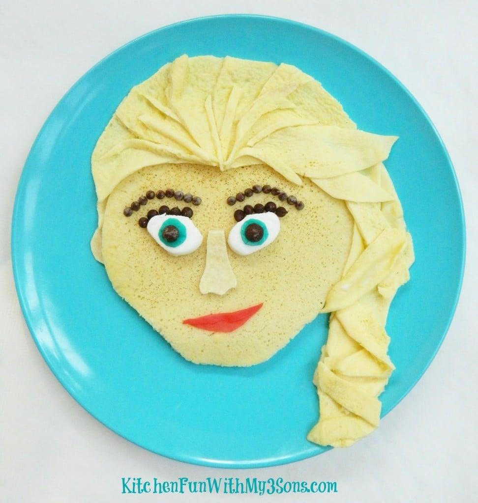 Disney Frozen Elsa Pancakes for Breakfast