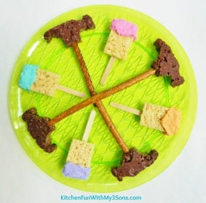 Paint Brush and Hammer Rice Krispies Treats