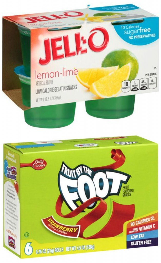 Jell-o and Fruit By The Foot