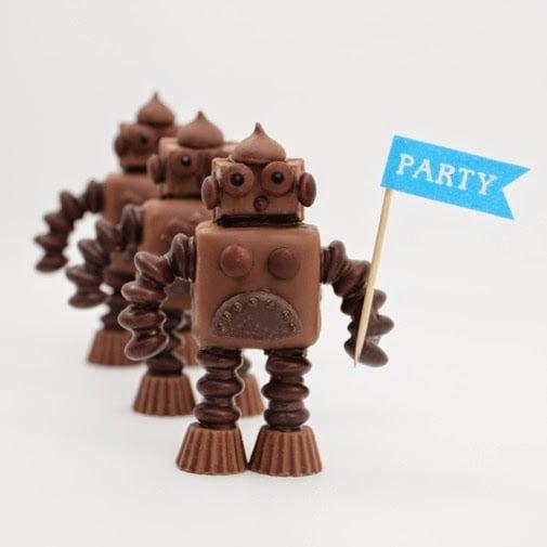 Chocolate Candy Bar Robots