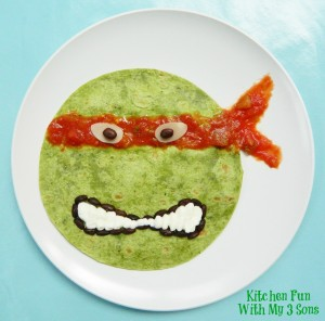 Teenage Mutant Ninja Turtle Quesadilla Dinner