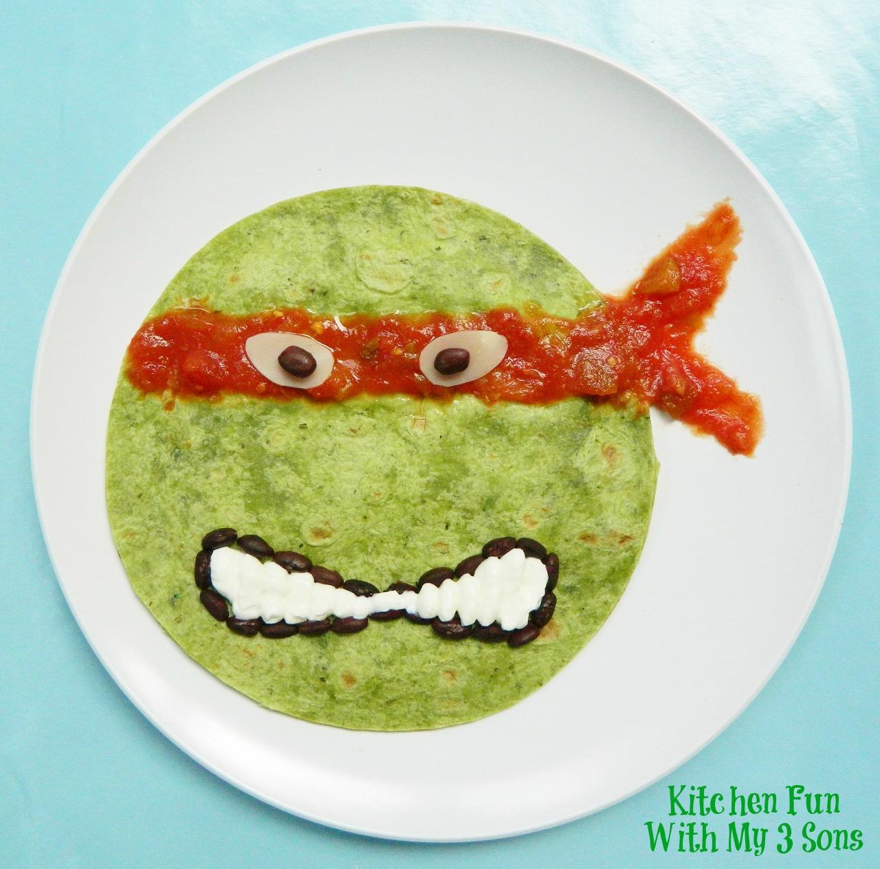 Kitchen Fun And Crafty Friday Link Party 167: Teenage Mutant Ninja Turtle Quesadilla Dinner