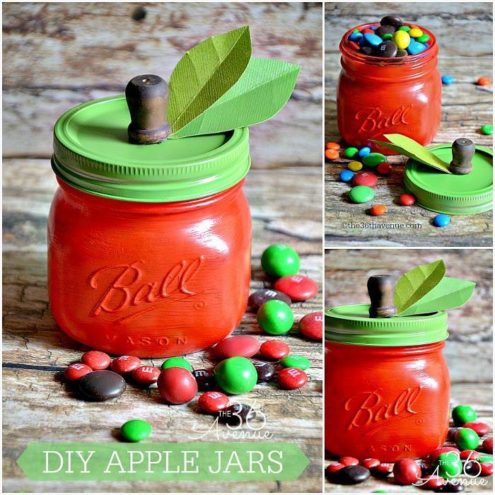 DIY Apple Jars for Teachers