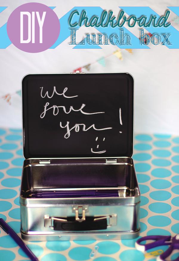 DIY Chalk Board Lunch Box