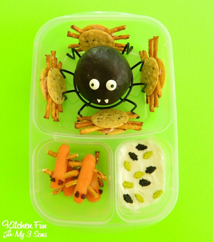 Creepy Crawler Halloween Bento Lunch - Kitchen Fun With My 3 Sons