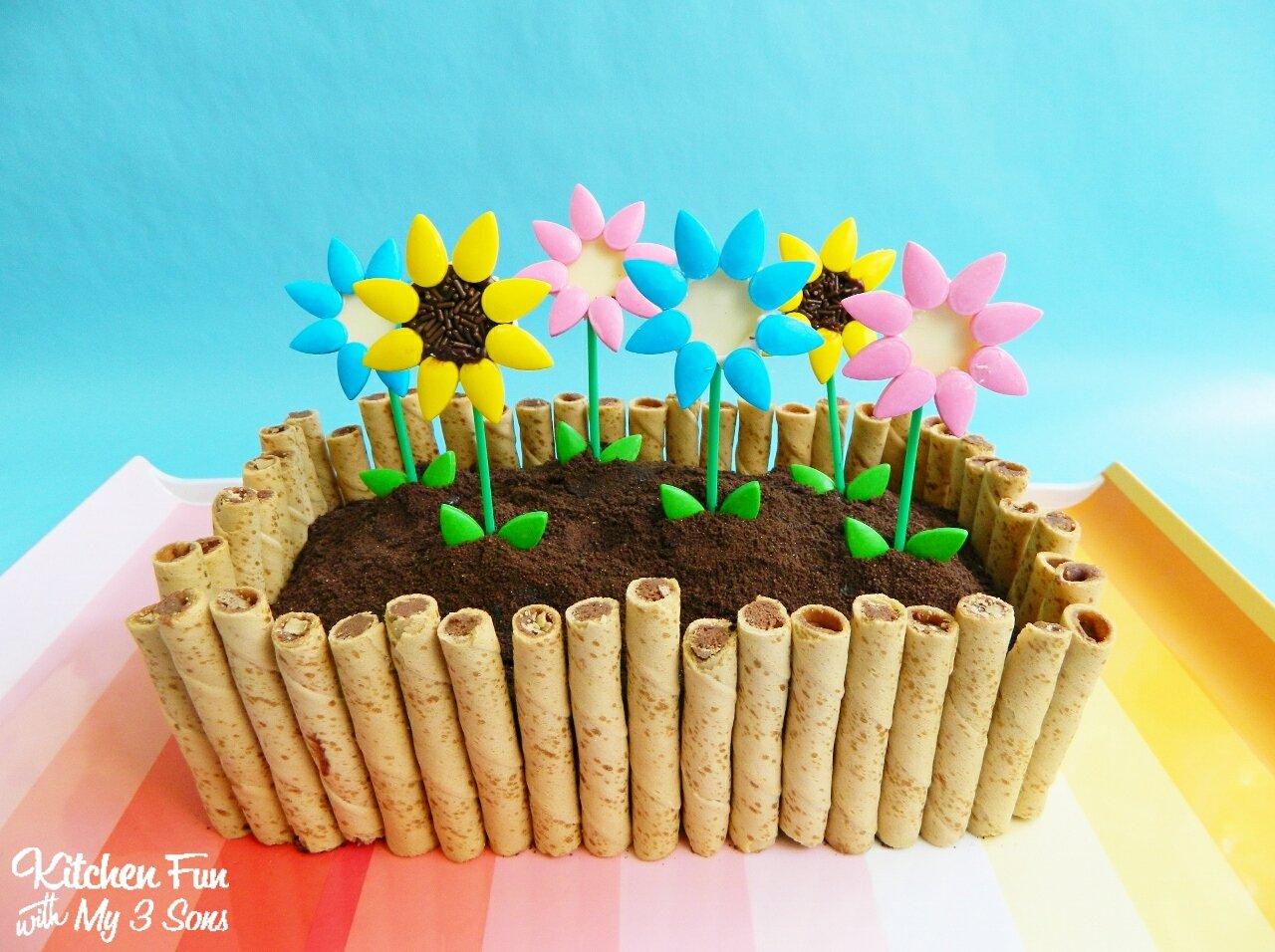 Flower Box Garden Cake - Kitchen Fun With My 3 Sons