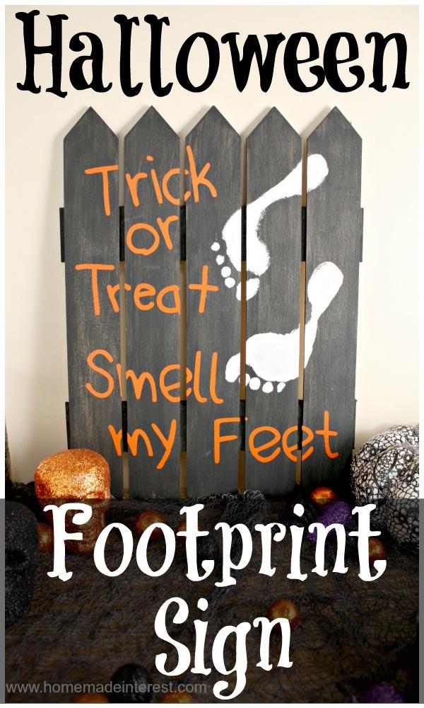 Halloween Footprint Sign