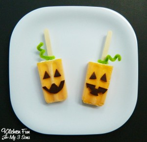 Halloween Pumpkin Popsicle's