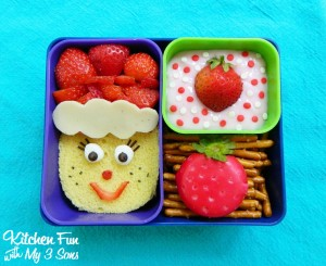 Strawberry Shortcake Bento Lunch