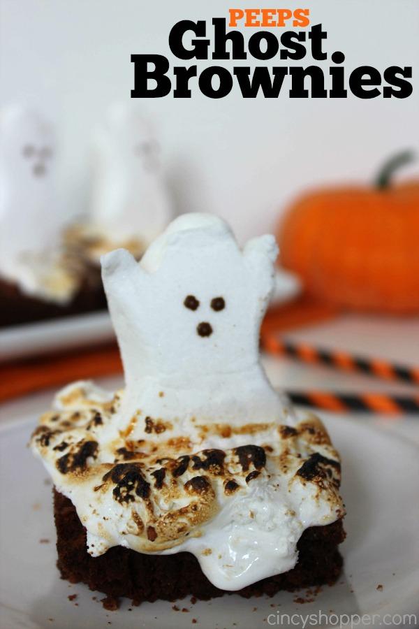 Peeps Ghost Brownies