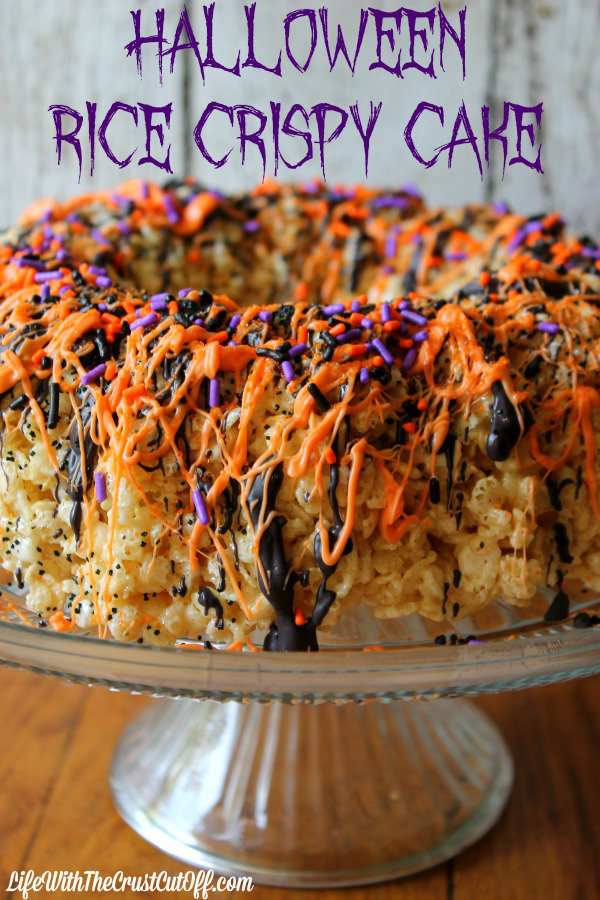 Halloween Rice Krispie Cake